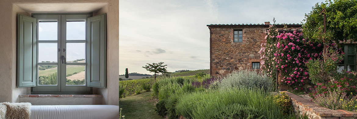 Rosso Tramonto suite, Follonico, Tuscany accommodation